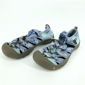 Keen Closed Toe Blue Hiking Water-shoes Sandals